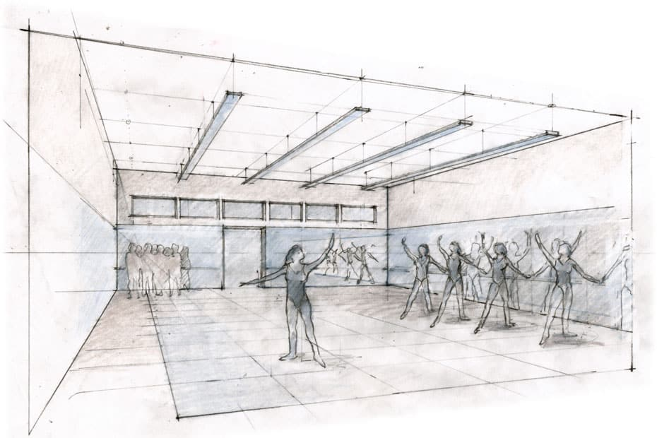 Dance Studio Sketch by Britton Jewitt