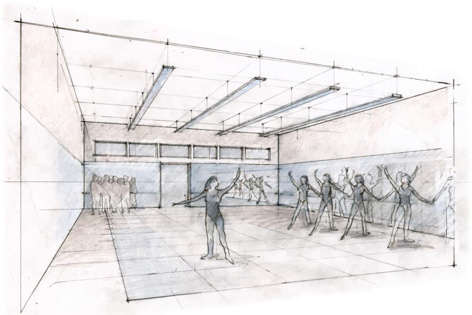 Dance Studio Sketch by Britton Jewitt